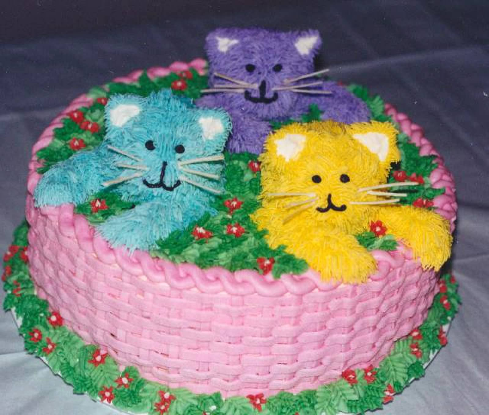 Kitten With Cake