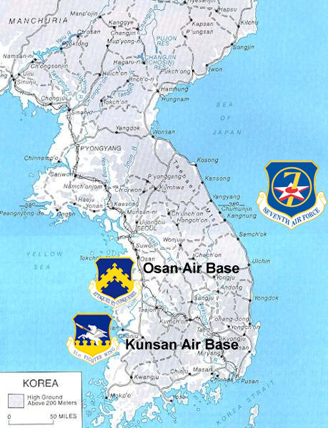 United States Air Force In South Korea Wikipedia - Us military bases in okinawa map