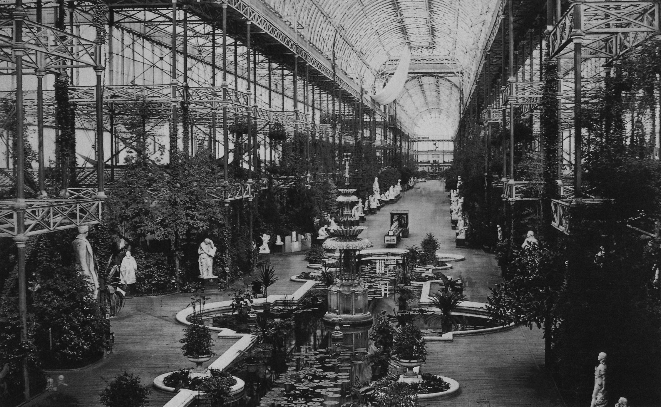 "Arquitectura ""esteampunk"" real Kristallpalast_Sydenham_1851_innen"