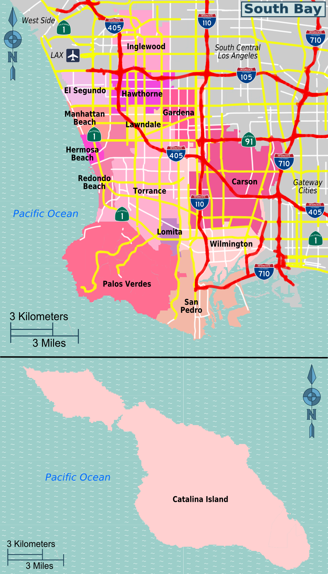 Rad map with lots to say tells you everything you need to ...   Bay Area Map Los Angeles