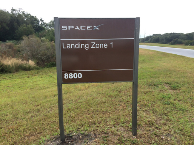 Landing Zone 1 sign at the former Cape Canaveral Air Force Station Launch Complex 13