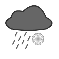 English: cloud, rain, snow, weather forecast s...