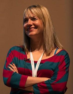 Lauren Beukes at [[dConstruct]], 2012.