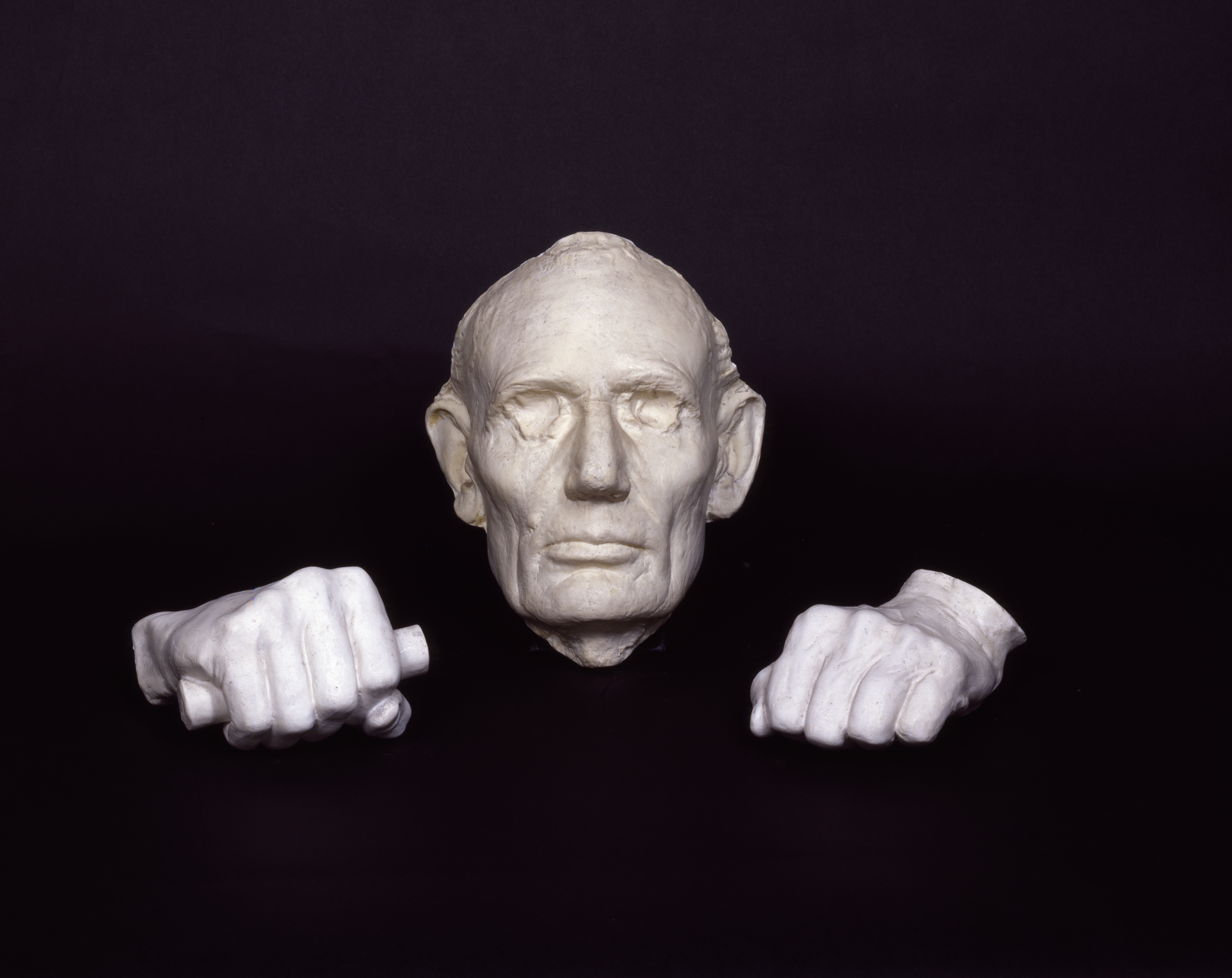 File Lincoln S Life Mask And Hands Highsm 15692 Jpg