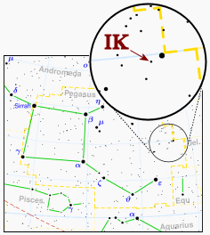 IK Pegasi Variable star in the constellation Pegasus