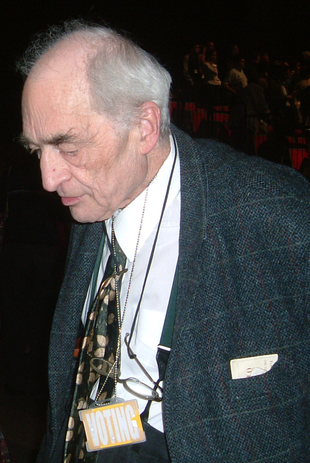 Lord Russell at the Liberal Democrat Federal Conference in Brighton, September 2003
