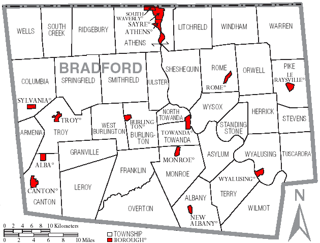 FileMap Of Bradford County Pennsylvania With Municipal And - Pennsylvania county map usa
