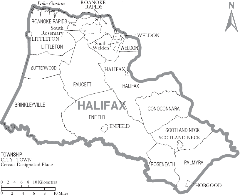 File:Map of Halifax County North Carolina With Municipal andhalifax county