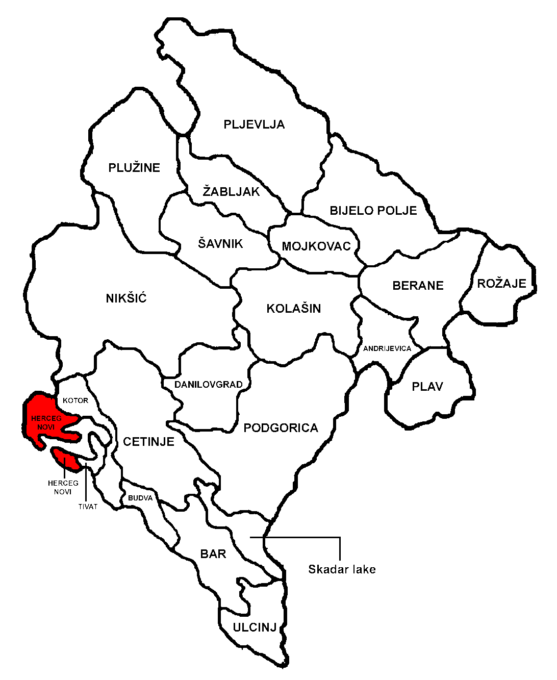 Katastar herceg novi mapa
