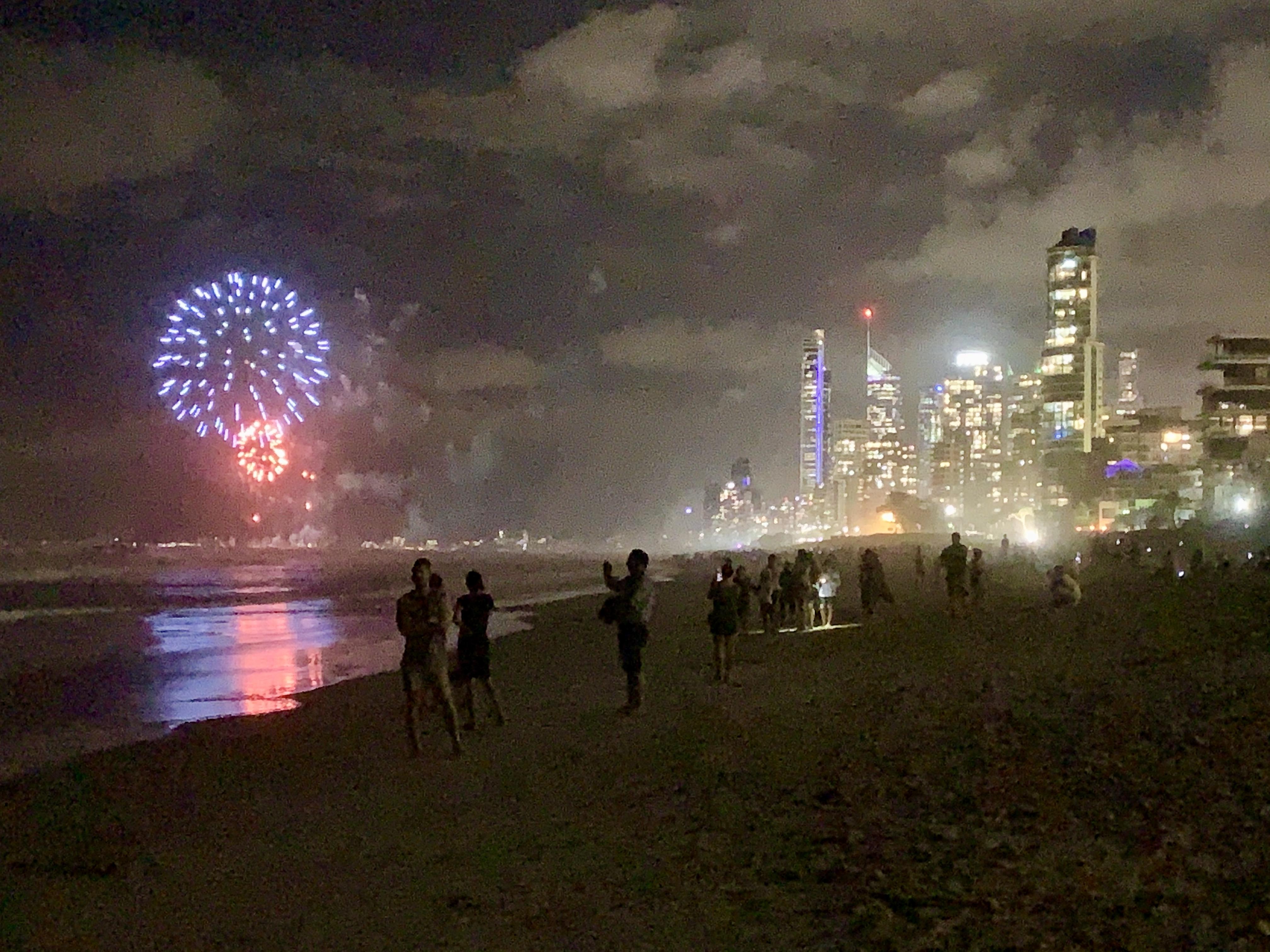 NYE Fireworks at Surfers Paradise Beach, Australia, 2019, 03.jpg