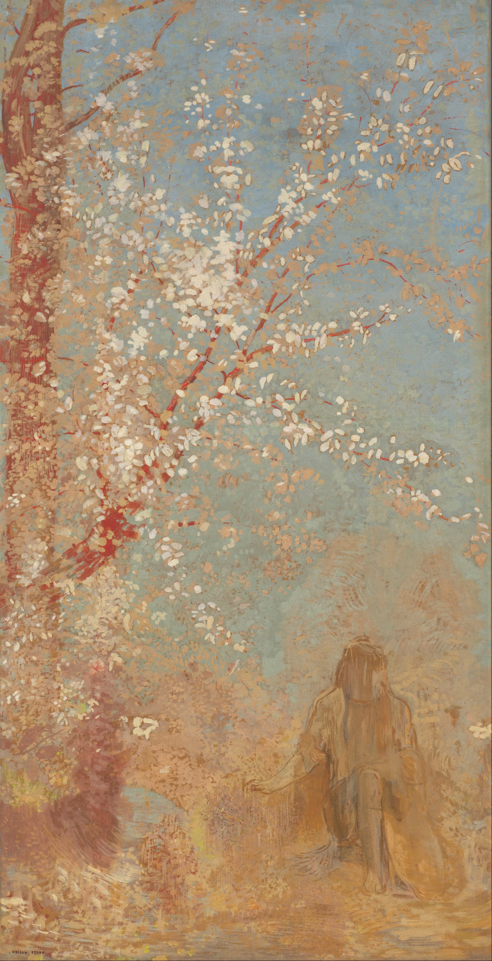 BT Orientalisme en Musique Odilon_Redon_-_Figure_under_a_blossoming_tree_-_Google_Art_Project
