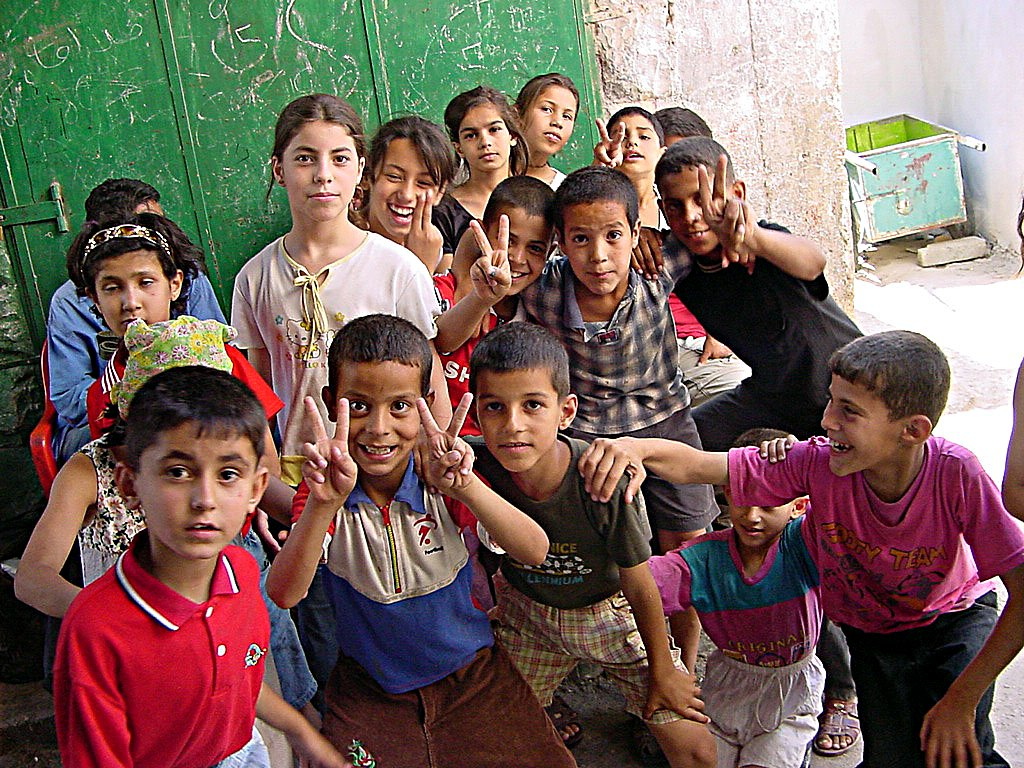 Description palestinian children in jenin