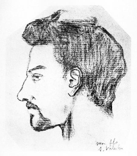 Portrait de Maurice Utrillo par sa mère Suzanne Valadon