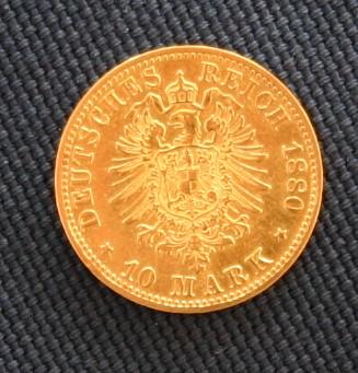 10 Mark (900er) 3,58 Gr. <br>Quelle und copyright:Wikipedia 2011