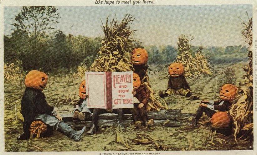 Kortissa yhdistyy Halloween-juhlan kristillisyys ja pakanallisyys