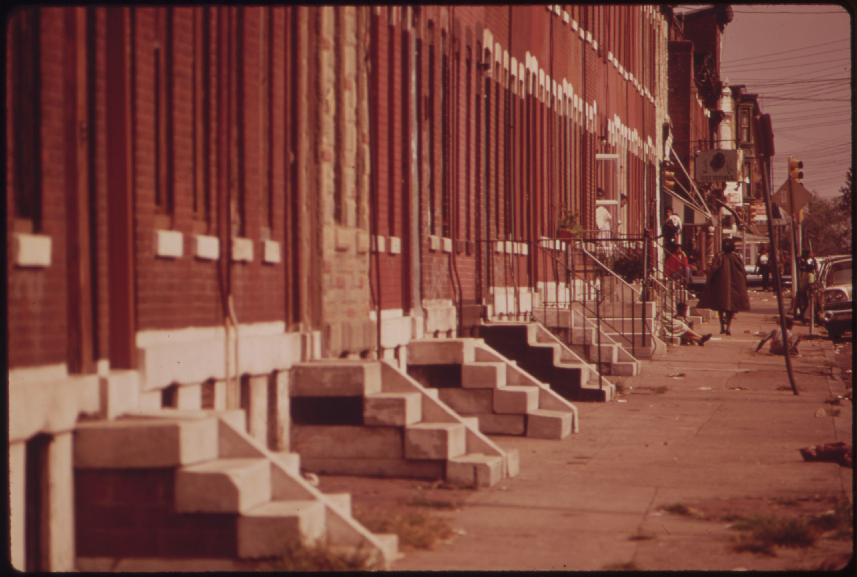 file row houses in north philadelphia   nara   552762