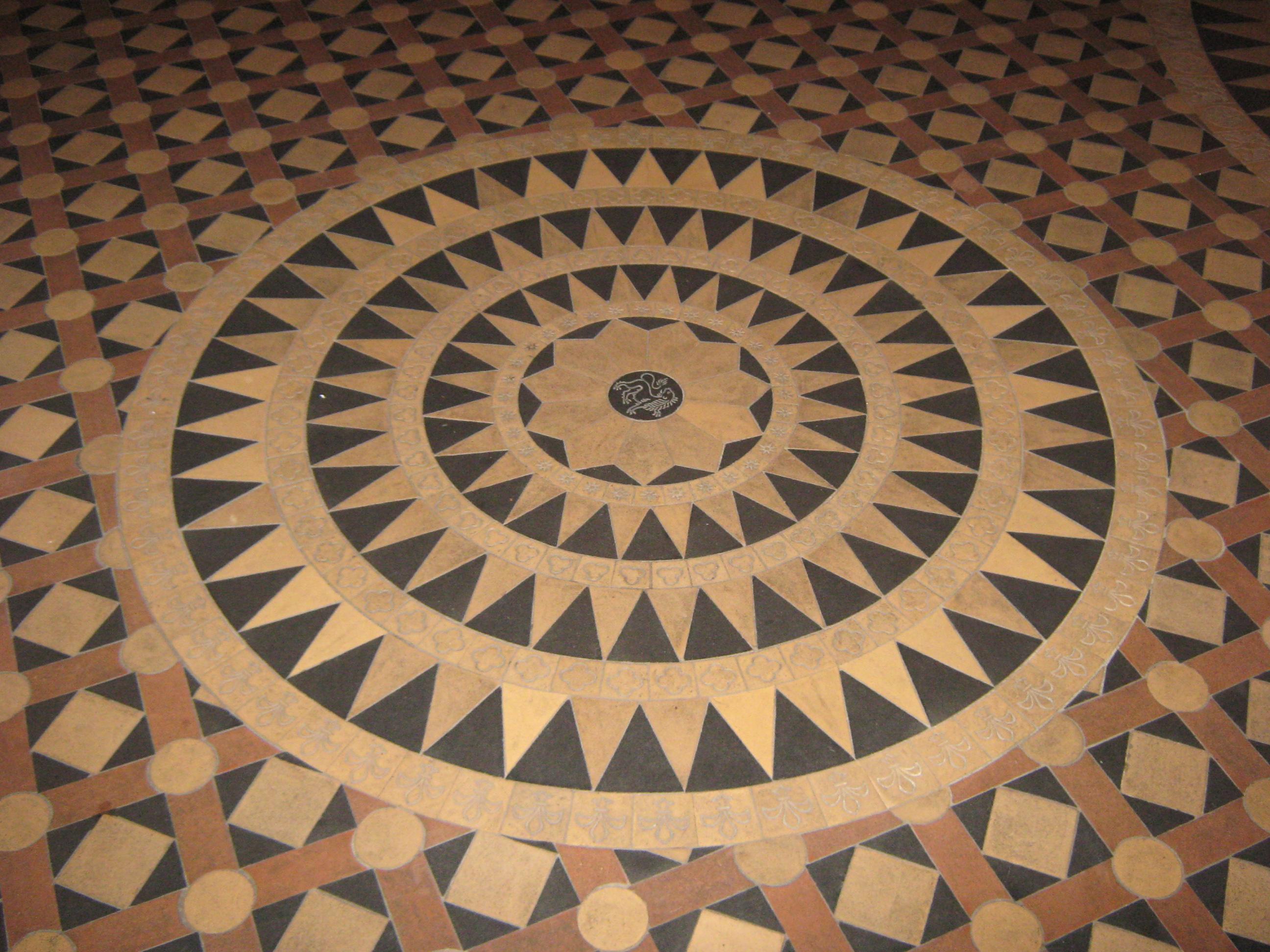 File Rt Marienkirche Bodenmuster Rund Jpg Wikimedia Commons