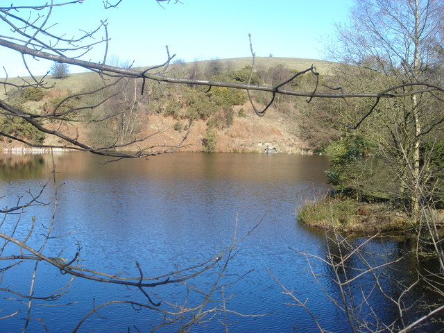 Reservoir on The Lowe, White Coppice - geograph.org.uk - 131038