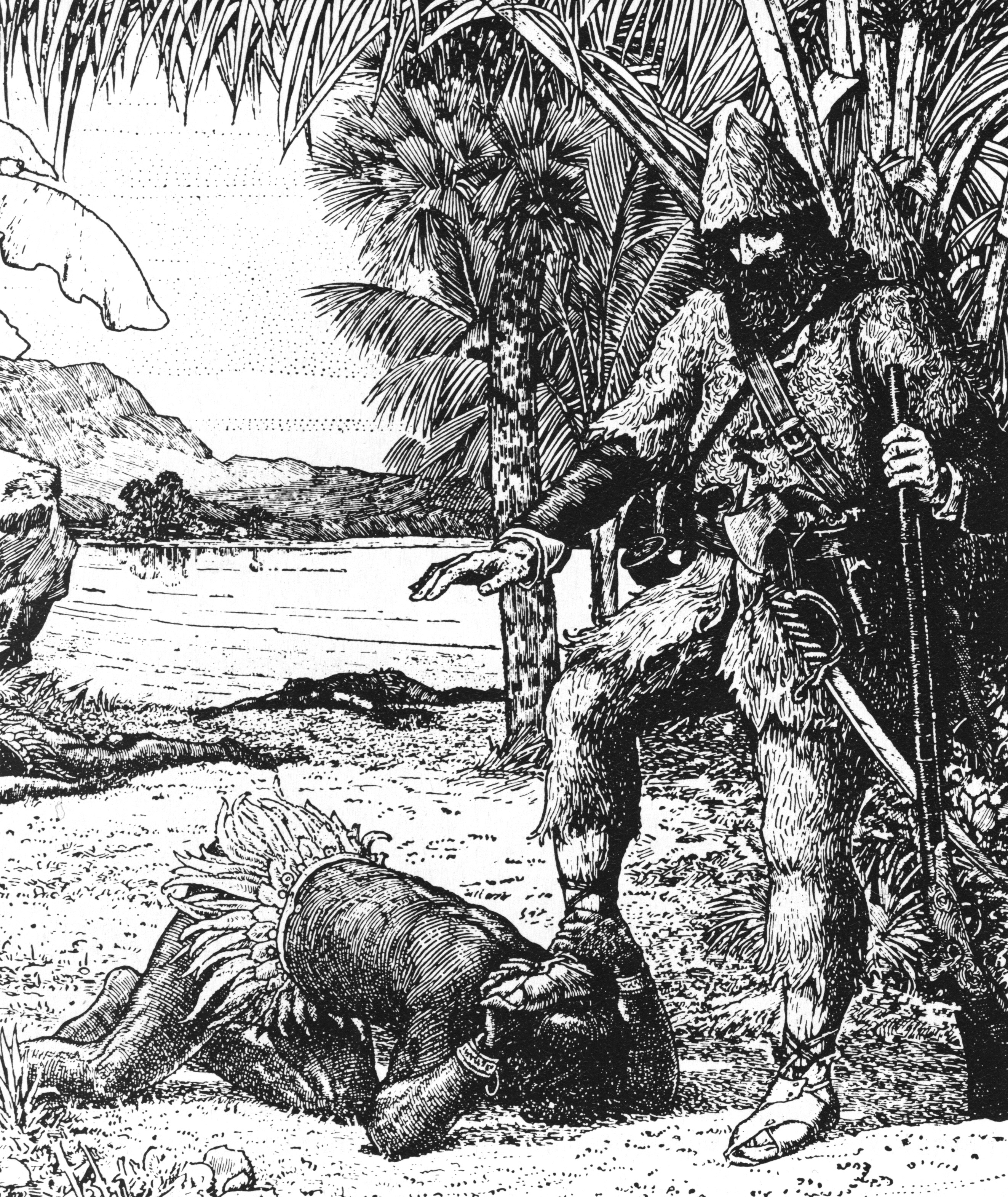 an analysis of how a man survived and got out in a remote island in robinson crusoe by daniel defoe Virtual islands can be, and have been, conceived, engineered or fashioned in strict accordance to the whims and ideals of their [invariably male] masters: take daniel defoe (1719) and his robinson crusoe, or jules verne (1874) and the mysterious island.