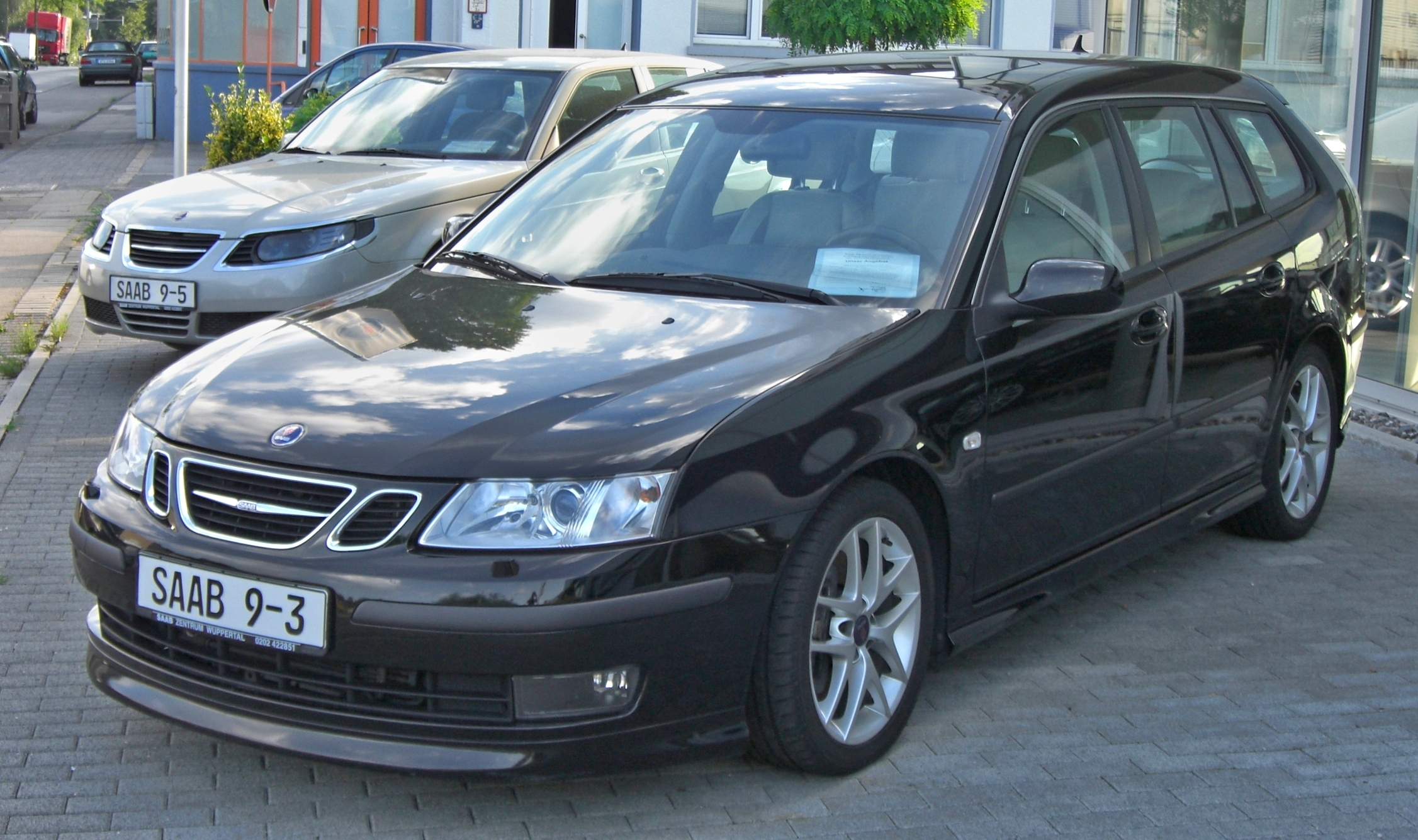 file saab 9 3 sportcombi 2 8 turbo v6 aero vorfacelift front jpg wikimedia commons. Black Bedroom Furniture Sets. Home Design Ideas