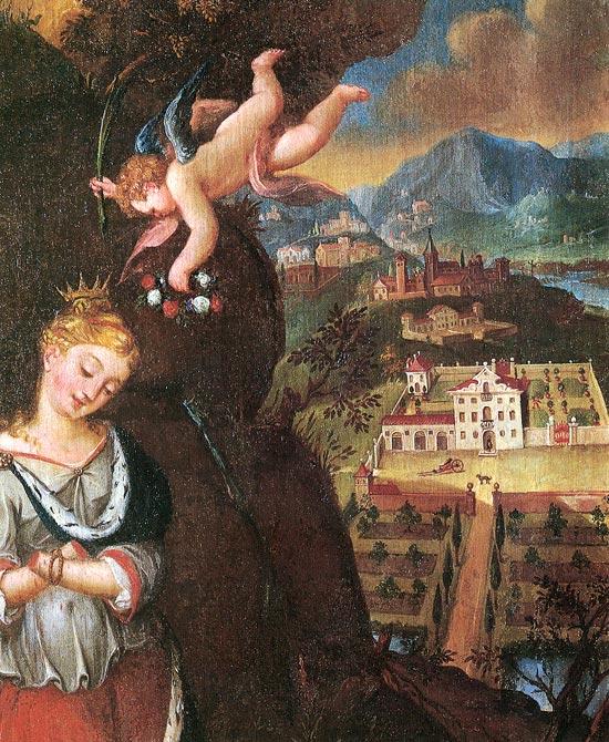 St Eurosia med avhogde hender, Colle Umberto i Italia, 1600-t