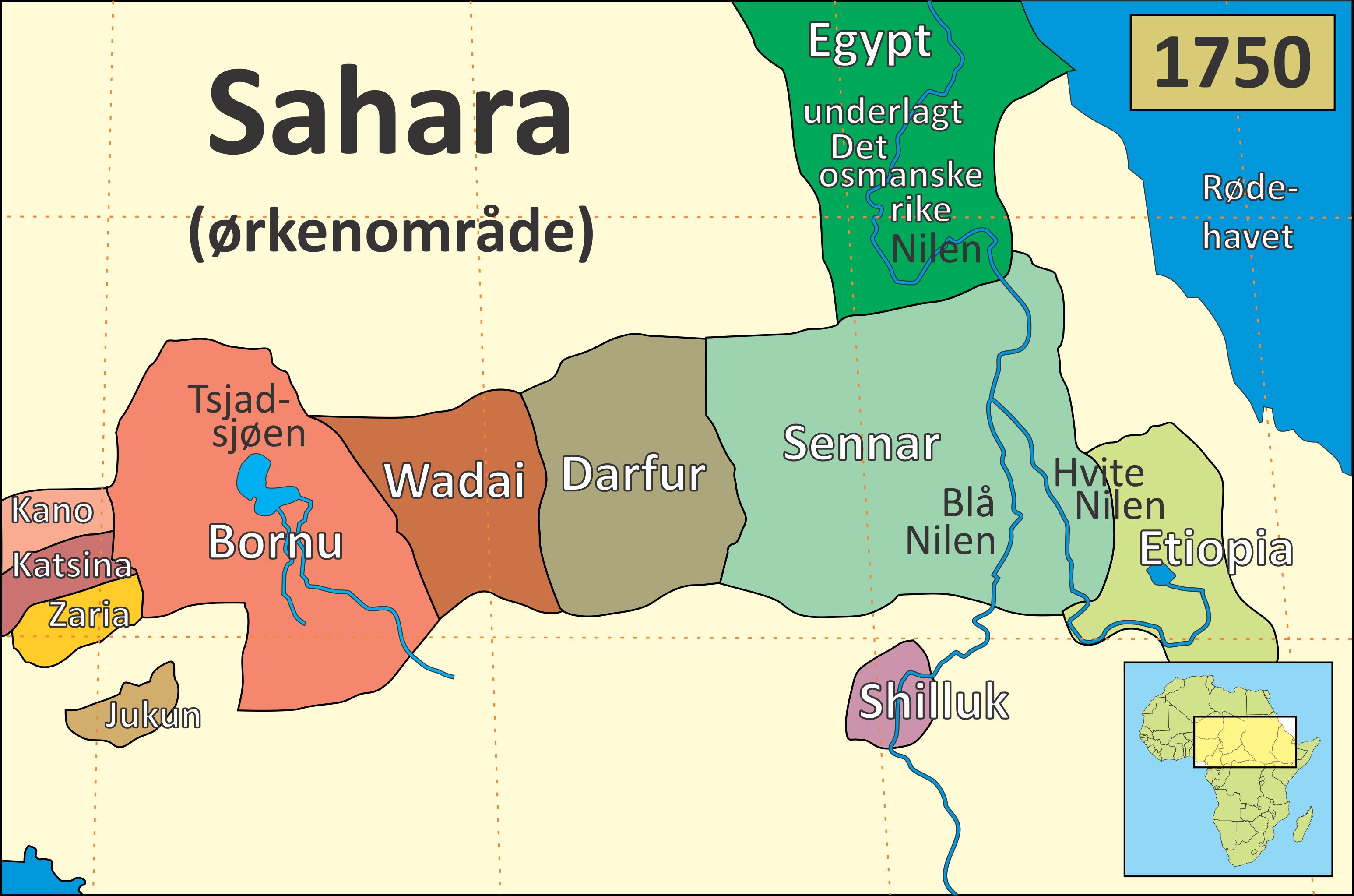 kart over sahara Fil:Sentral Afrika 1750.png – Wikipedia kart over sahara