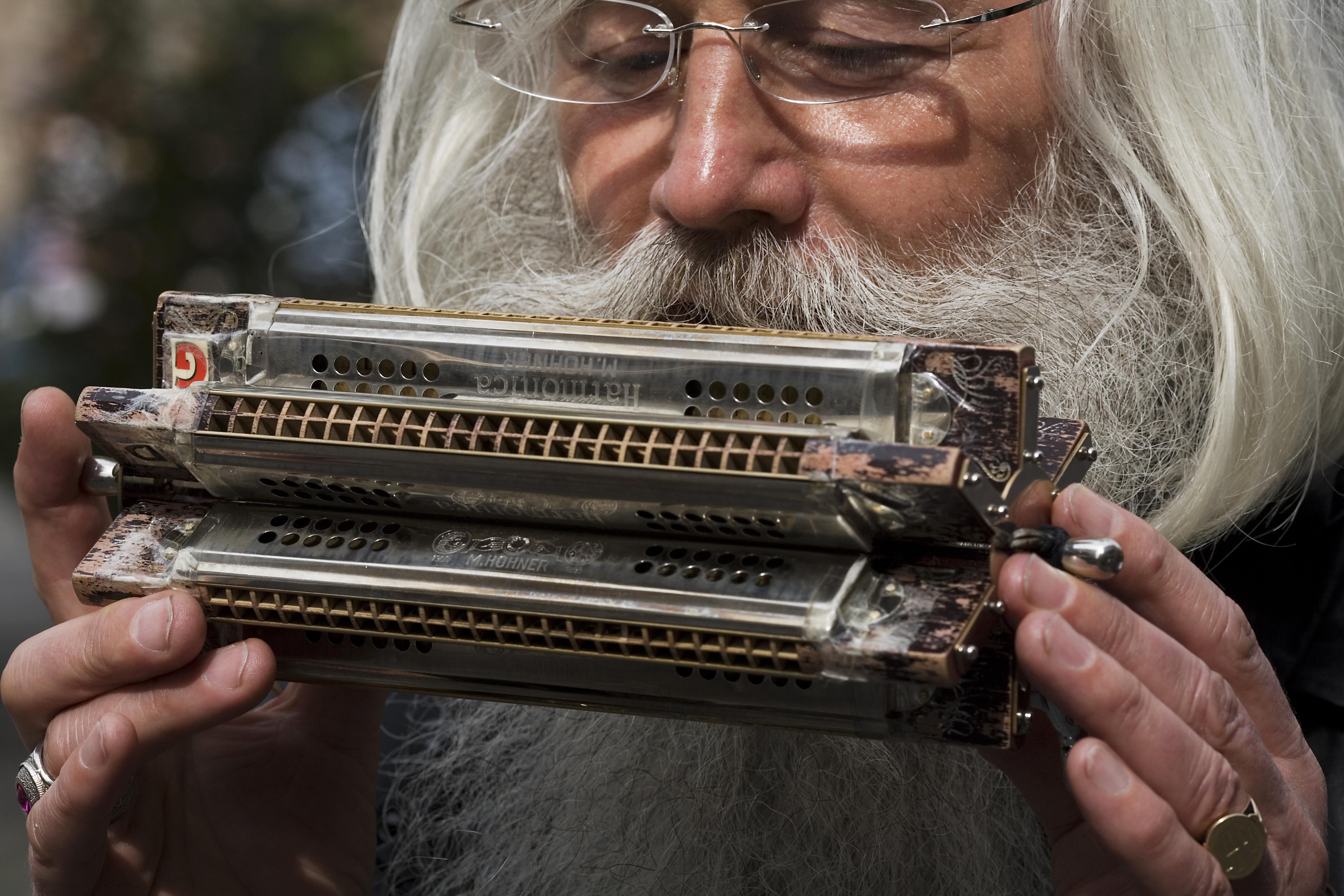 Play the harmonica - 1 6