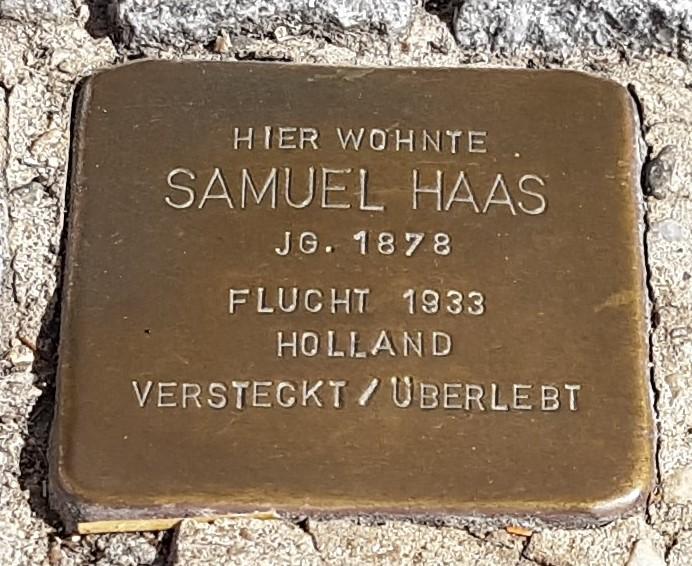 Stolperstein von Samuel Haas