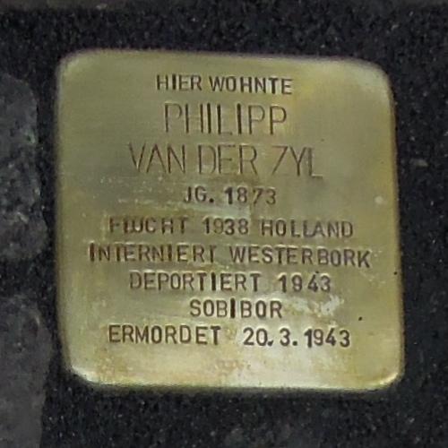Stolperstein für Philipp van der Zyl