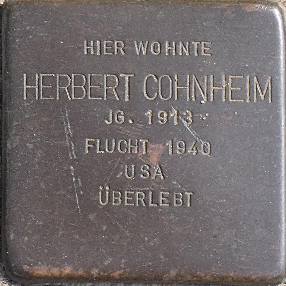 Stolperstein Herbert Cohnheim