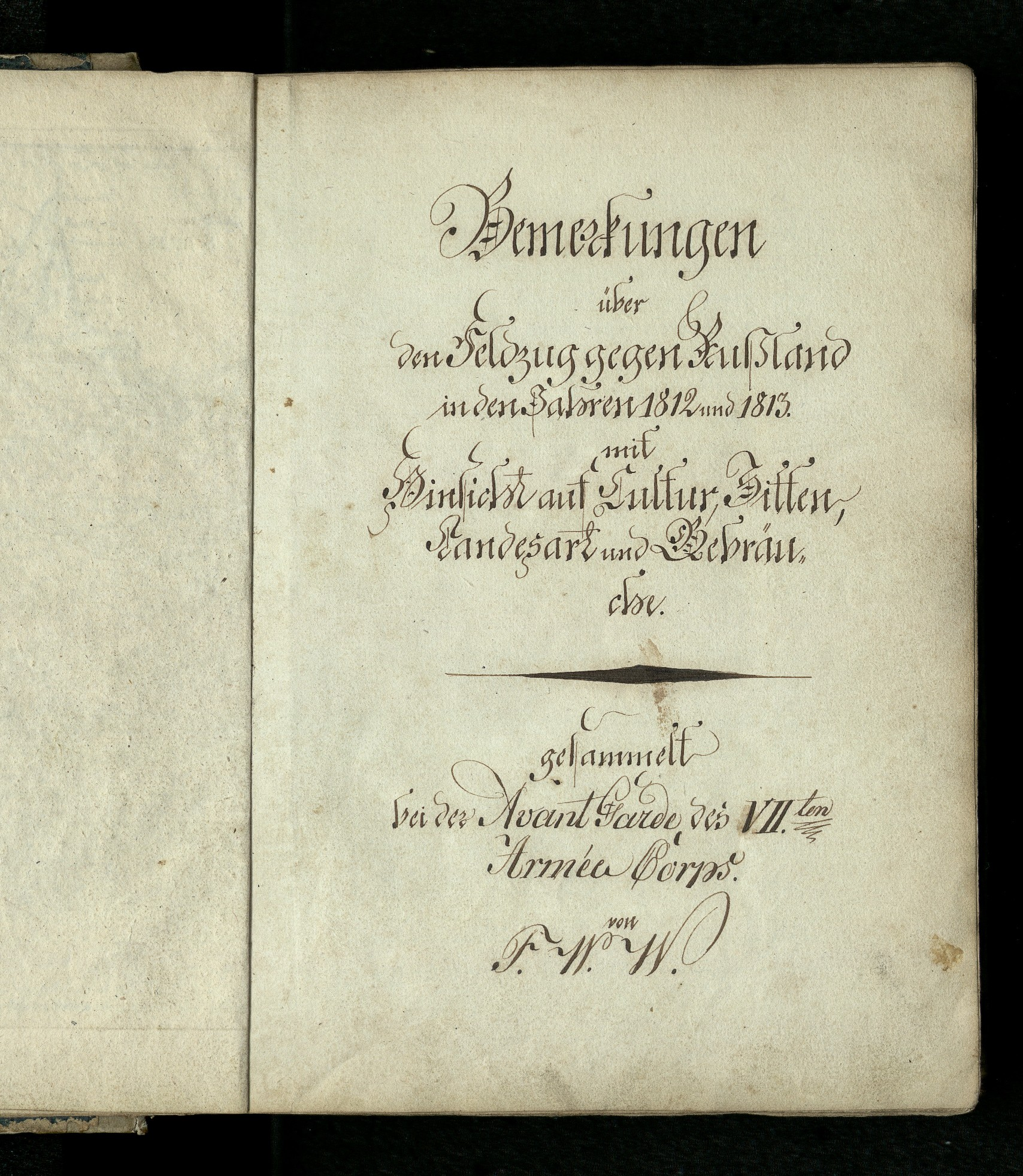 Title page of the manuscript