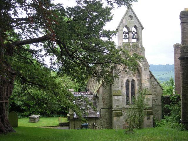 The church of St John the Baptist at Preen Manor, near to Church Preen, Shropshire