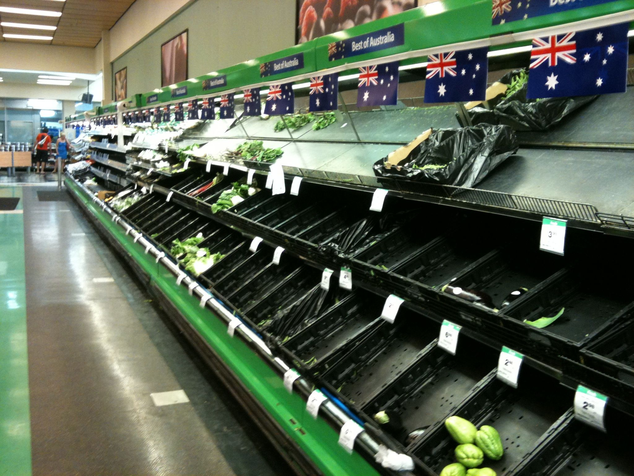 Image result for empty supermarket australia
