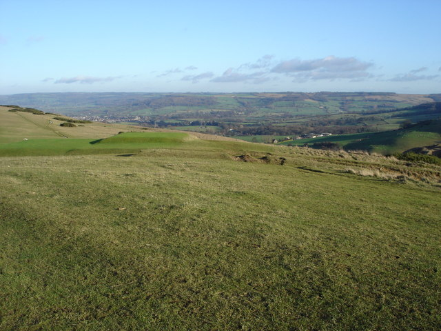 View towards Winchcombe from Cleeve Hill - geograph.org.uk - 296074