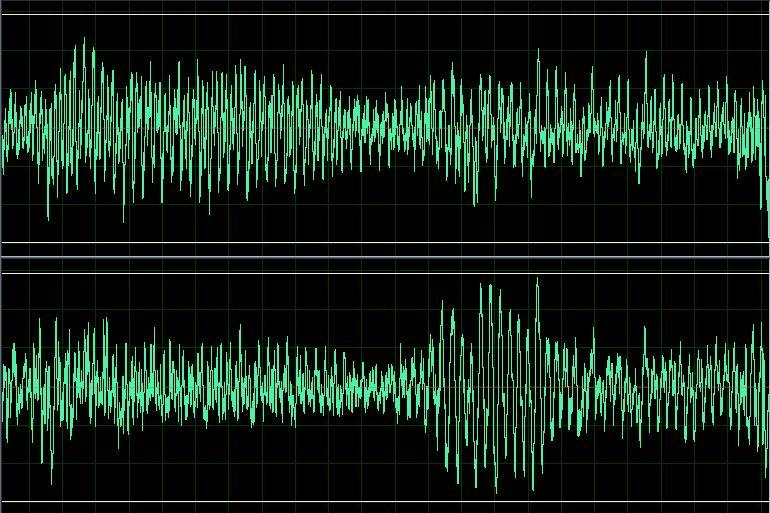 Wave sound digital representation splitted channels