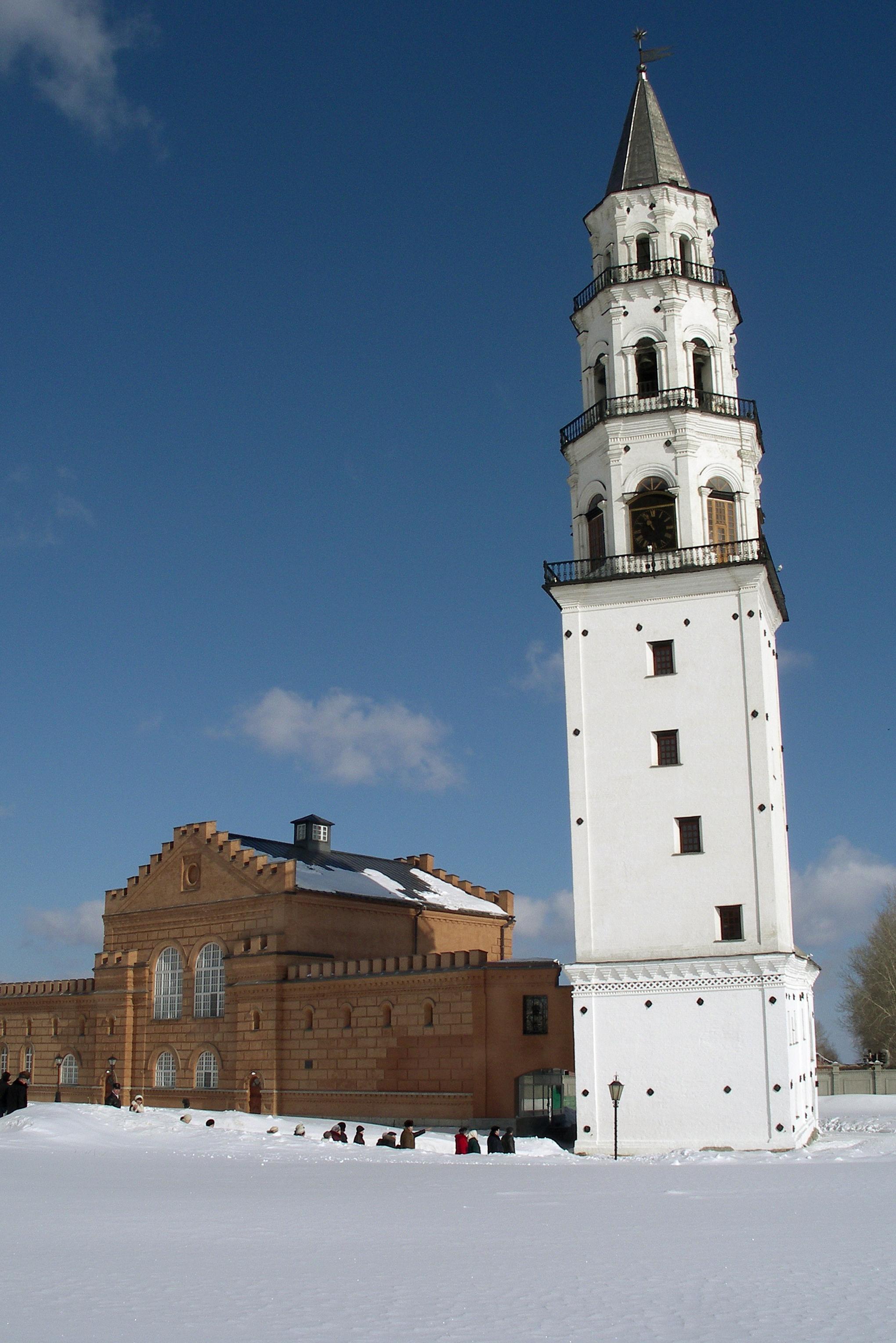 фото наклонной башни невьянской также время