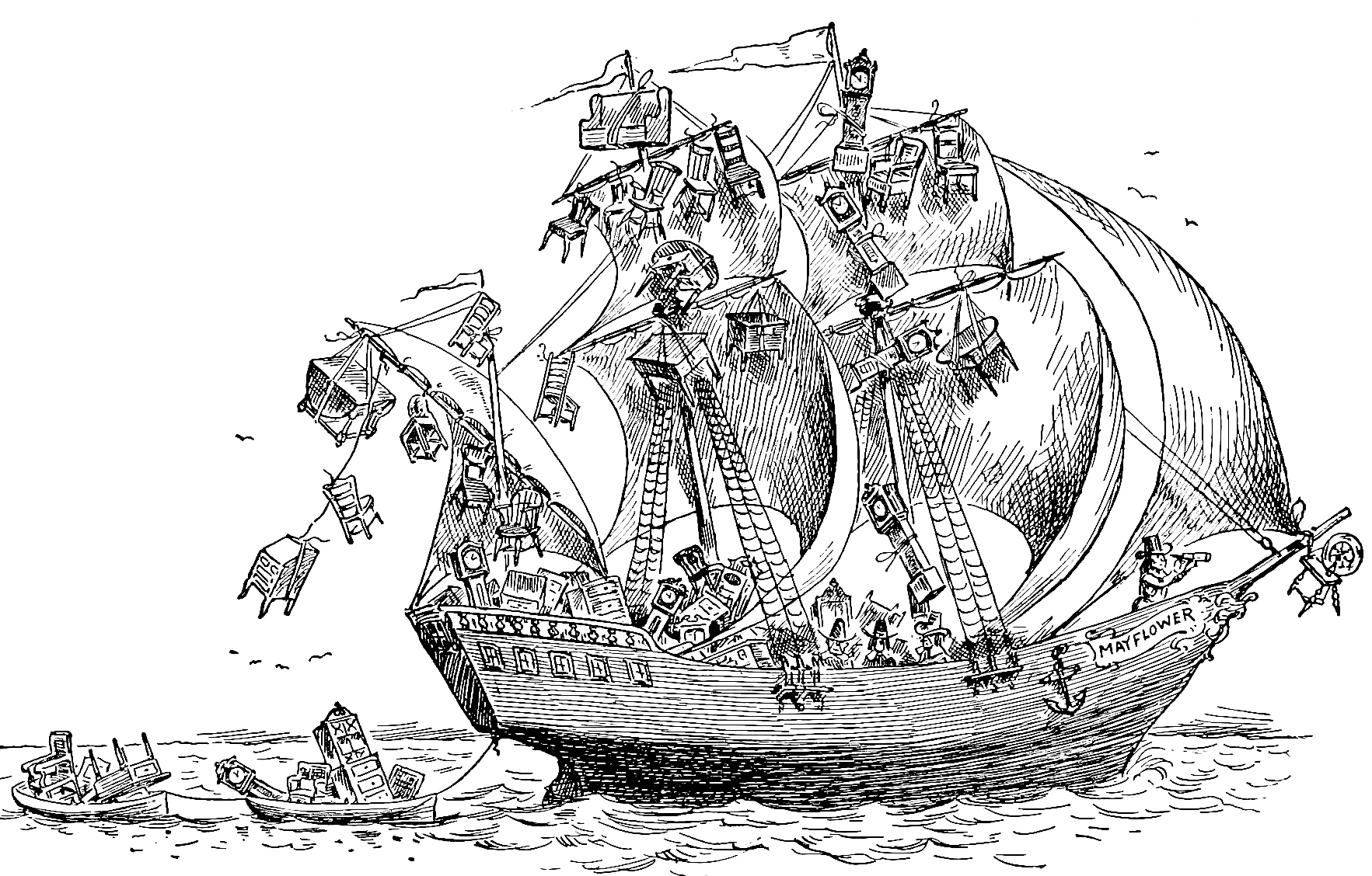 "The Mayflower from ""Bill Nye's History of the United States"" (1894)"