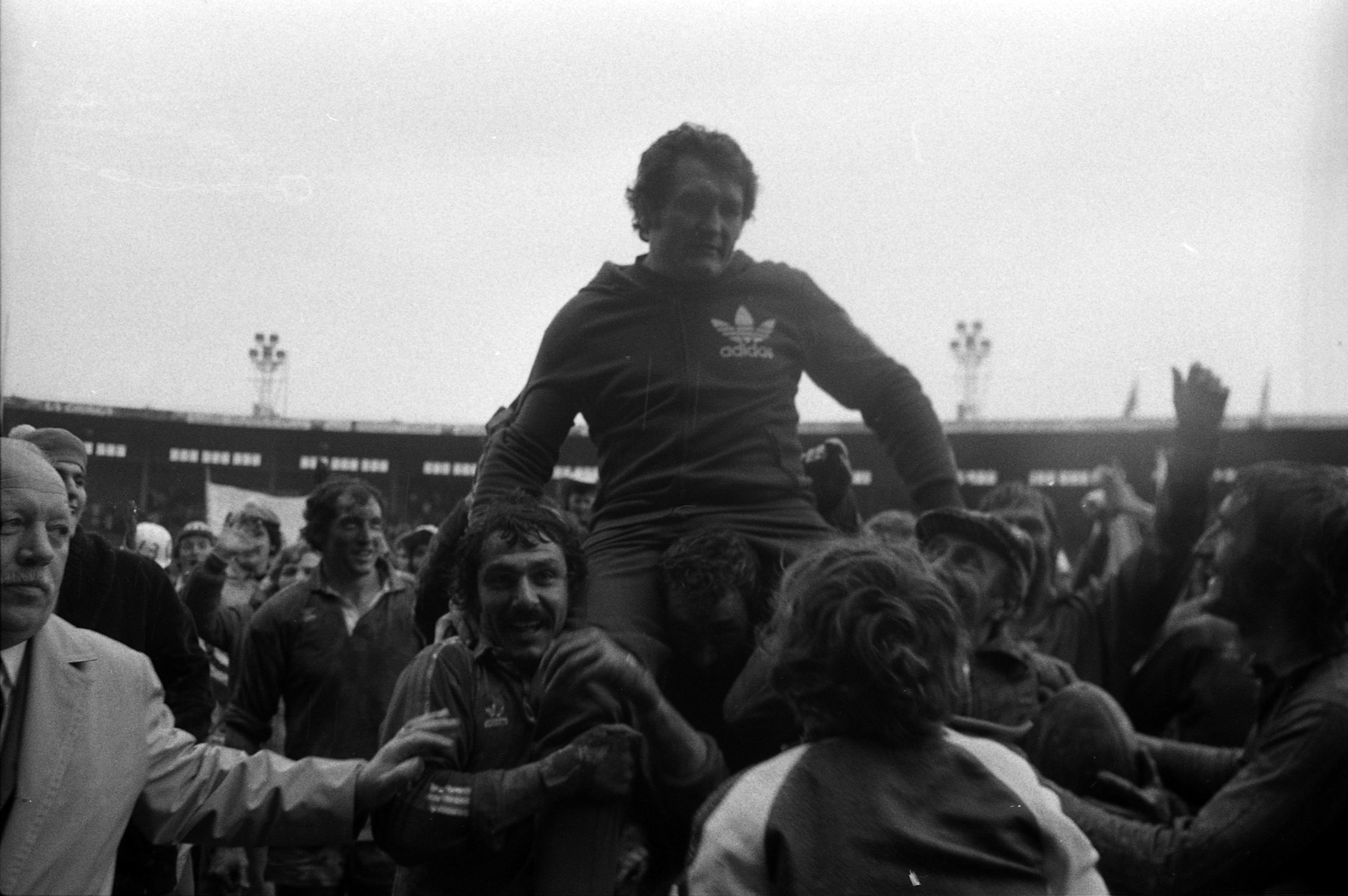 championnat de France de rugby à XIII où l'équipe du Toulouse Olympique XIII rencontre l'équipe de l'AS Saint-Estève. Date 11 May 1975 date QS:P571,+1975-05-11T00:00:00Z/11