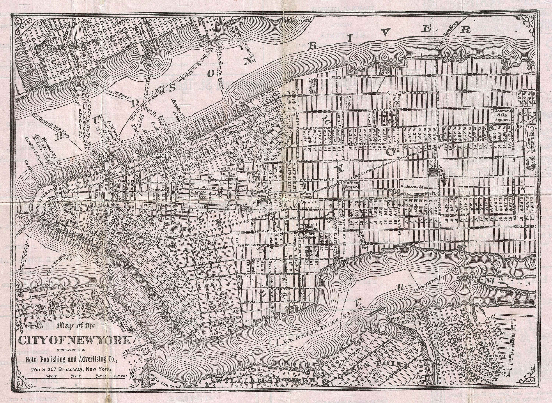 Vintage Maps Of NYC  New York City Historical Blog