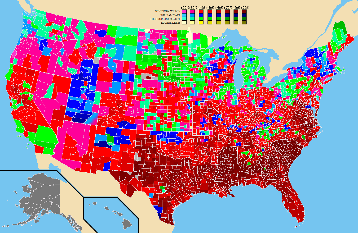 Presidential Election Results Map By County on coloring map of the united states