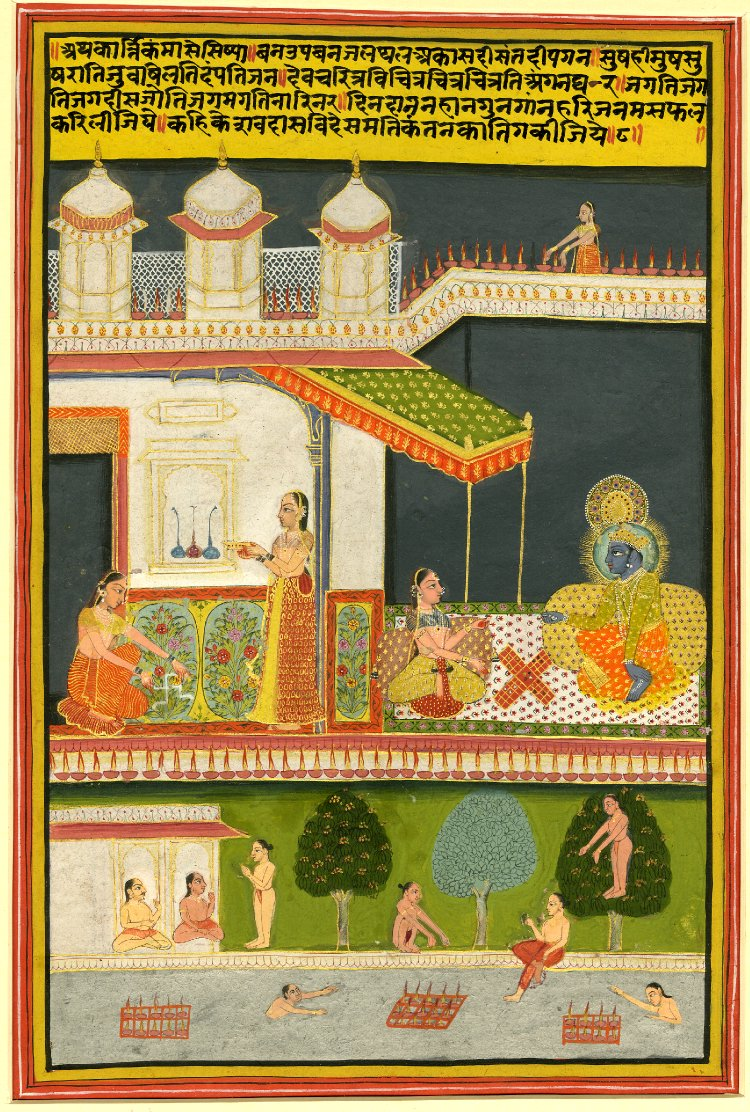 7 Kartikka (october-november). Barahmasa series. Jaipur, ca. 1800, British Museum.jpg