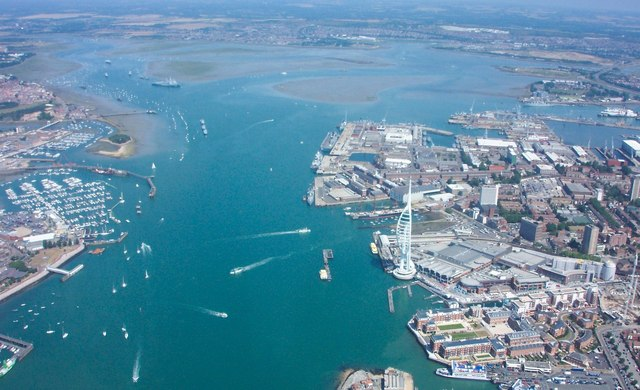 google drone with File Aerial View   Portsmouth Harbour   Geograph Org Uk   949912 on Alcatel Pixi 4 5 Specs moreover Dji Phantom 4 Review further 6246534090 likewise Cruises To Arica Chile likewise Aerial Views Fairy Tale Castles Around World.
