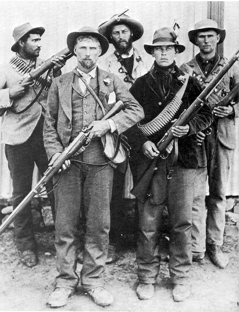 Boer guerrillas during the Second Boer War in South Africa.