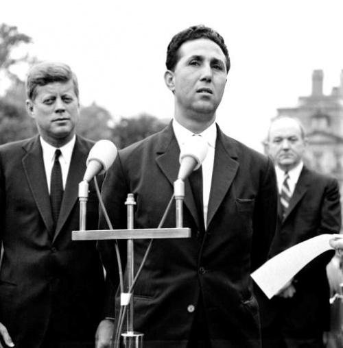 Algerian President Ahmed Ben Bella and President John F. Kennedy, 1962