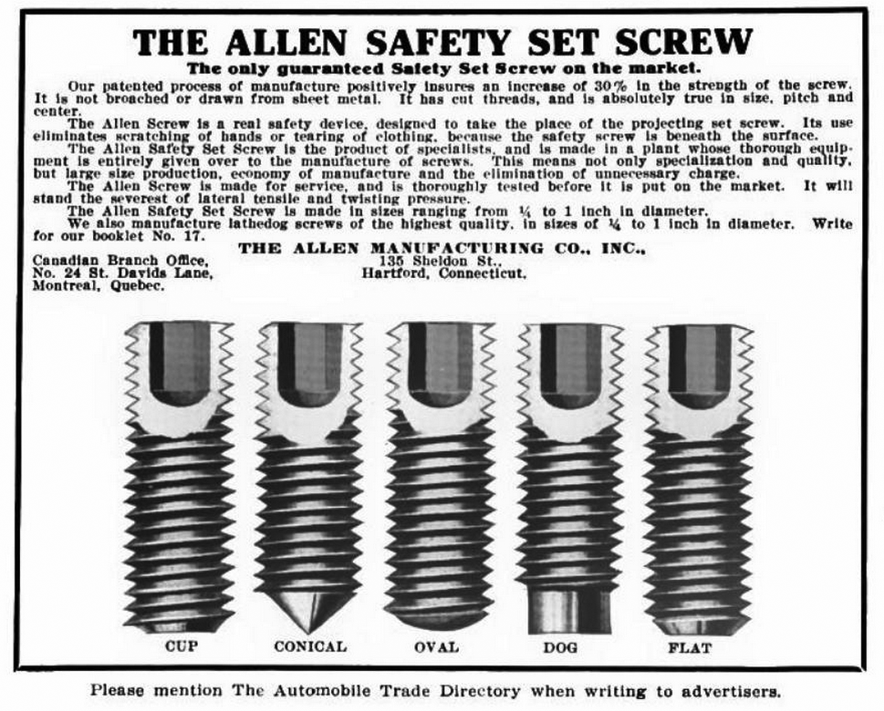 File Allen Mfg Co Inc 1913 Advert In Auto Trade Dir Png