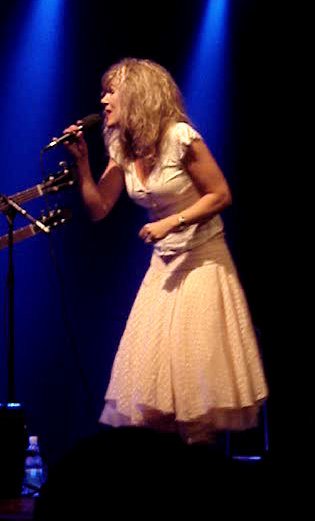 Anna-Mari Kähärä performing at the festival in 2007