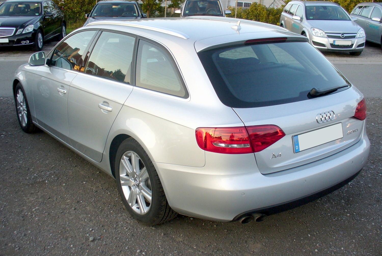File:Audi A4 B8 Avant 2.0 TDI Multitronic Eissilber Heck.JPG ...