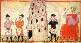 Imagen Torre de Babel Edad Media
