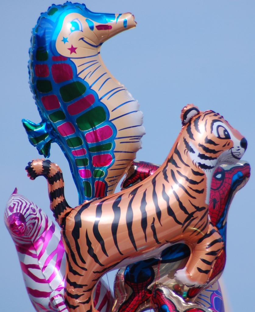 Animal-shaped balloons