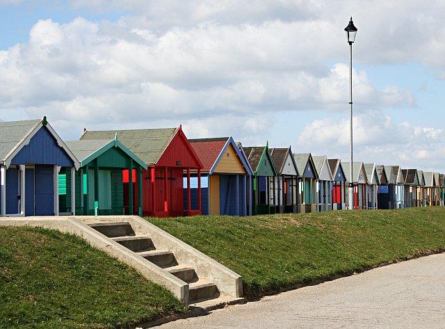 Beach Huts along the Promenade - geograph.org.uk - 154948